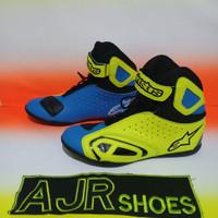Sepatu drag Alpinestar K-pro biru kuning stabilo