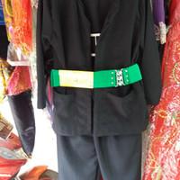 Baju pangsi+gesper pakaian adat betawi anak