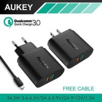 AUKEY CHARGER 2 USB PORTS QUICK CHARGE 3.0 WALL CHARGER PA-T13