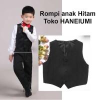 Rompi anak laki-laki warna hitam untuk cocokin baju kemeja & jas