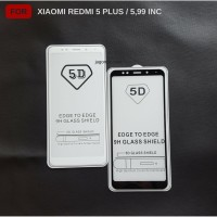Tempered Glass 5D Xiaomi Redmi 5 Plus Full Cover Ambigo