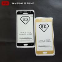 Tempered Glass 5D Samsung J7 Prime Full Cover Ambigo - Hitam