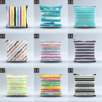 Sarung Bantal Sofa size 40x40 cm (Cushion Cover) motif line/garis
