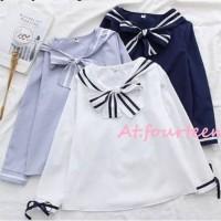 Blouse atasan baju dress cewek model seragam jepang cute lucu import
