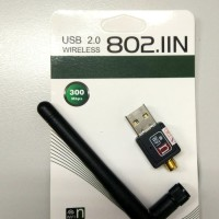USB WiFi 300Mbps Wireless Adapter + Antenna