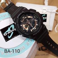 Baby g ba-110 gba-110 ga-110 ga110 black rosegold ori bm