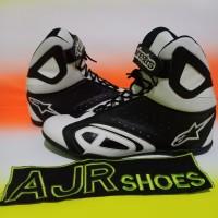 Sepatu drag touring alpinestar k- pro putih hitam