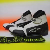 Sepatu drag alpinestar putih hitam