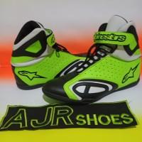 Sepatu Drag touring alpinestar k- pro hitam stabilo