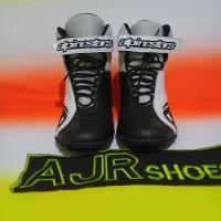 Sepatu drag touring alpinestar k- pro hitam putih
