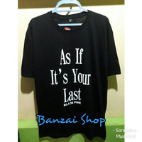 Kaos BLACKPINK As If it's Your Last - Hitam, S