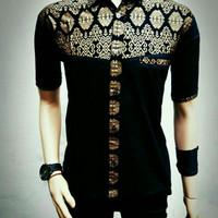 Kemeja batik pria | baju kemeja Kombinasi prada | BAJU KHAS ANAK MUDA