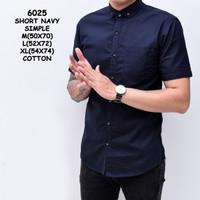 Baju Kemeja Lengan Pendek Pria Katun Slimfit | Kemeja Cowok Distro