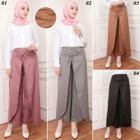 Celana Kulot Rok Wanita ,Rok celana Katun Street Terbaru Melisa Pants