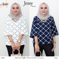 Baju wanita blouse tunik jessy muslin remaja modern modis lucu trendi