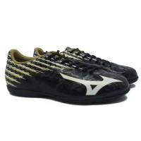 Sepatu Futsal Mizuno Basara 104 IN - Black/White/Gold P1GF186509 Ori