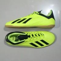Sepatu Adidas Futsal 18.4 Original Sport Running Hijau Stabilo