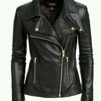 Jaket Kulit Wanita Keren Model Blazer GGS Santai Ngantor dan Bermotor