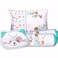 Kiddy Bantal Bayi Set 4 in 1 Cat / Kiddy Bantal Guling Bayi Cat Series