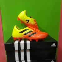 Unik New!! Sepatu Bola Anak Adidas Size 33-37. Orange ijo Diskon