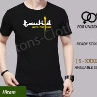 Kaos islami Tauhid Hitam baju muslim tshirt dakwah islam