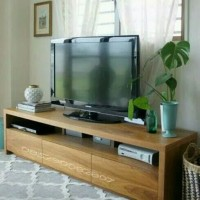 Custom design Bufet Meja tv Almari rak buku Minimalis kayu jati