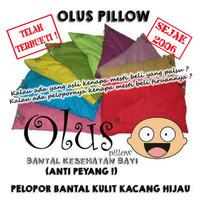 Olus Pillow | Bantal Kesehatan Bayi (Anti Peyang)| Bantal Kulit Kacang - Biru