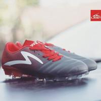 Sepatu Bola Specs Equinox Fg Dark Granite/Signal Red/ White