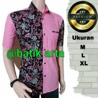 kemeja batik pink /baju batik pink AMY 10