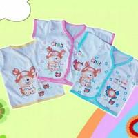 Baju bayi tangan pendek kancing depan murah 0-6 bulan
