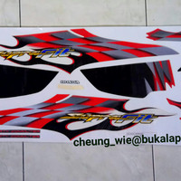 lis body/striping honda Supra Fit New CW R 2006 merah putih ori AHM