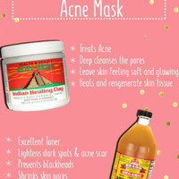 Aztec Indian Healing Clay Mask dan Bragg Apple Cider Vinegar