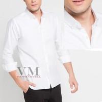 VM Kemeja Formal Putih Polos Panjang Slimfit (To Kcg-Putih)
