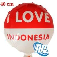 balon foil hut RI 40 cm/ balon bulat dirgahayu 17 agustus/ merah putih