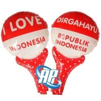 balon pentung merah putih/Balon foil HUT RI/balon 17 agustus/indonesia
