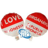balon foil hut RI/ balon bulat dirgahayu 17 agustus/ balon merah putih