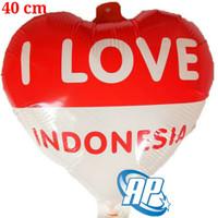 balon foil hut RI/ balon love dirgahayu 17 agustus/ merah putih 40 cm