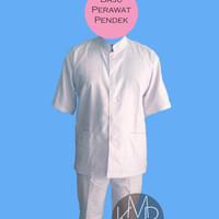 Setelan Baju Perawat Pria Lengan Pendek