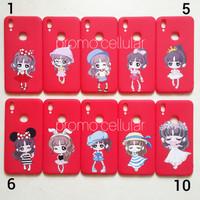 Red Girl Xiaomi Redmi 5 Plus 5+ Softcase Softshell Silikon Cover Case