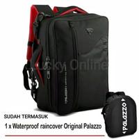 Paket Tas Ransel Laptop Multifungsi Palazzo 34685 & Raincover RC 03