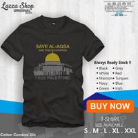 Kaos / Baju / T-shirt Free Palestin Save Al-Aqsa Distro keren Murah
