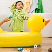Munchkin Inflatable Duck Tub/Bath Tub Balon/Bak Mandi Bayi/Kolam Anak