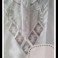 Baju Koko Anak Balita Lengan Pendek Bordir Putih (1- 7 Tahun)