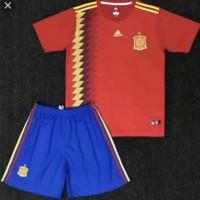 Jersey baju bola anak / kids spanyol home piala dunia 2018