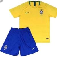 Jersey baju bola anak / kids brazil home piala dunia 2018