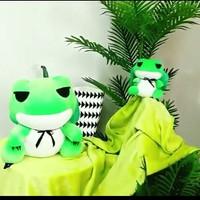 Balmut bantal selimut bonmut boneka selimut kodok hijau import