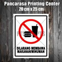 Sticker 1 dilarang makan & minum safety sign warning imo Surabaya