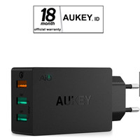 Aukey PA-T14 Wall Charger with Quick Charge 3.0 - Hitam [42W3 port]