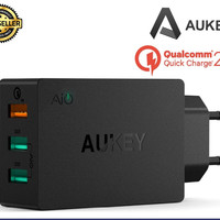 Aukey PA-T2 Quick Charge 2.0 USB Wall Charger 3 Port
