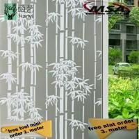 sticker/sandblast/kaca film/stiker motif bambu
